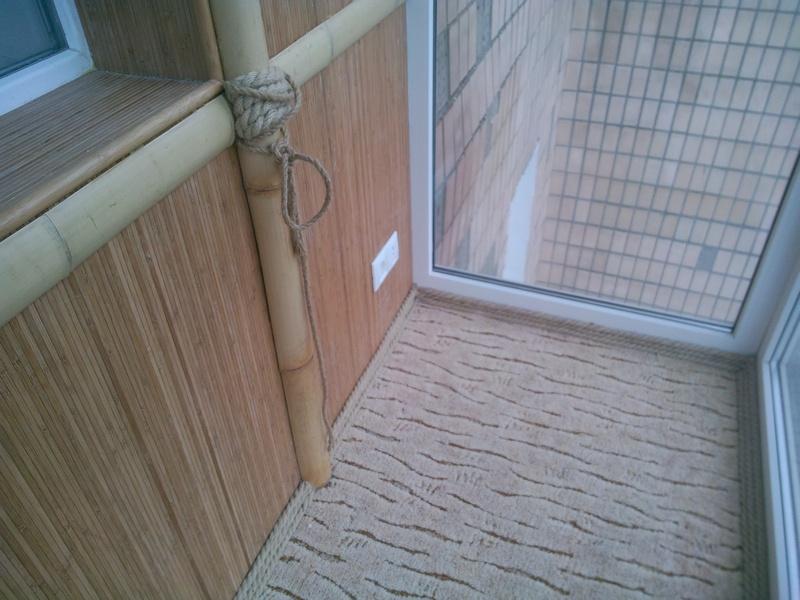 Бамбуковые стволы в интерьере - галерея - натуральные обои: .